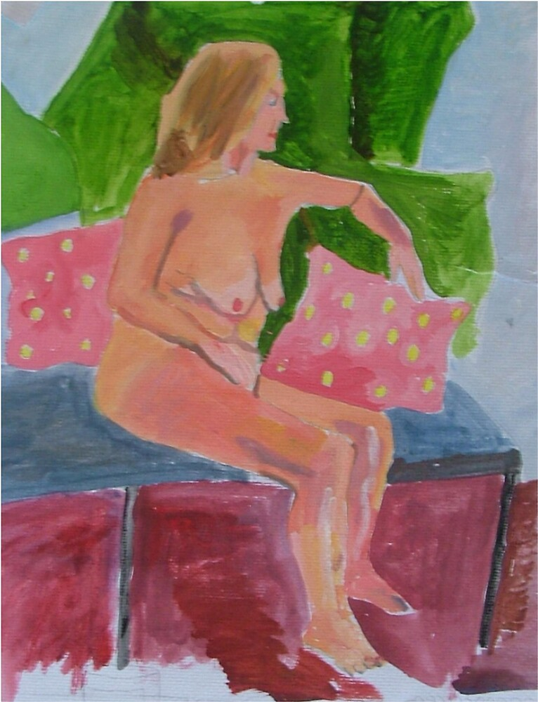 nude on chair by sassie