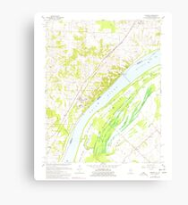 USGS TOPO Map Illinois IL Olmsted 308369 1967 24000 Canvas Print