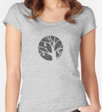 Birdcage (dark) Women's Fitted Scoop T-Shirt