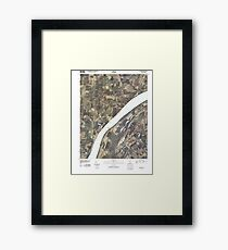 USGS TOPO Map Illinois IL Olmsted 20100329 TM Framed Print