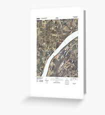 USGS TOPO Map Illinois IL Olmsted 20100329 TM Greeting Card