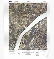 USGS TOPO Map Illinois IL Olmsted 20100329 TM Poster