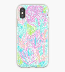 Coral Print iPhone Case