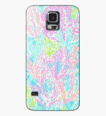 Coral Print Case/Skin for Samsung Galaxy