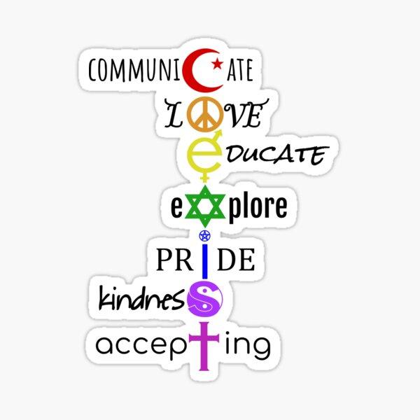 Coexist Black Colored Text Sticker
