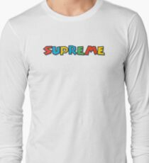 Supreme Super Mario Theme Long Sleeve T-Shirt