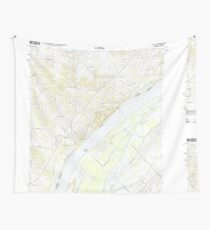 USGS TOPO Map Illinois IL Olmsted 20120808 TM Wall Tapestry