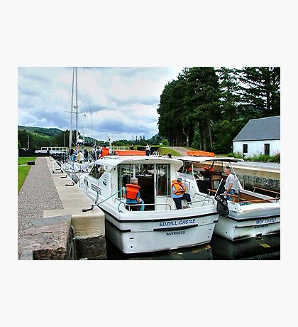 A busy day at Laggan Lock on the Caledonian Canal, Scotland........! Photographic Print