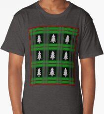 Festive Flannel (Silver) Long T-Shirt