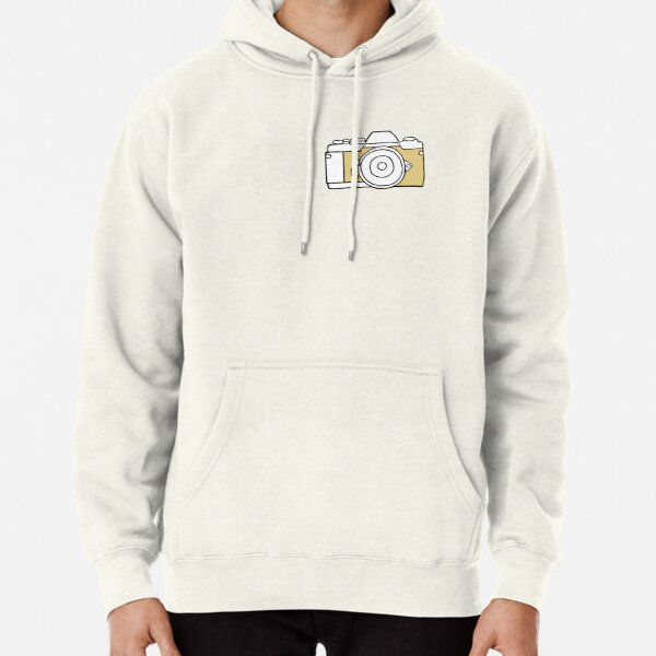 Yellow film camera drawing Pullover Hoodie