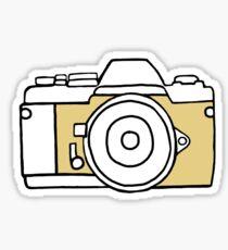 Yellow film camera drawing Sticker