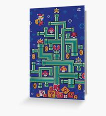 It's a tree, Mario! Greeting Card