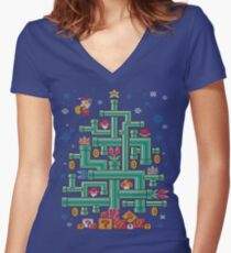It's a tree, Mario! Women's Fitted V-Neck T-Shirt