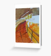 the canal tunnel Greeting Card