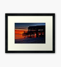 """Daybreak at Barwon Heads"" Framed Print"
