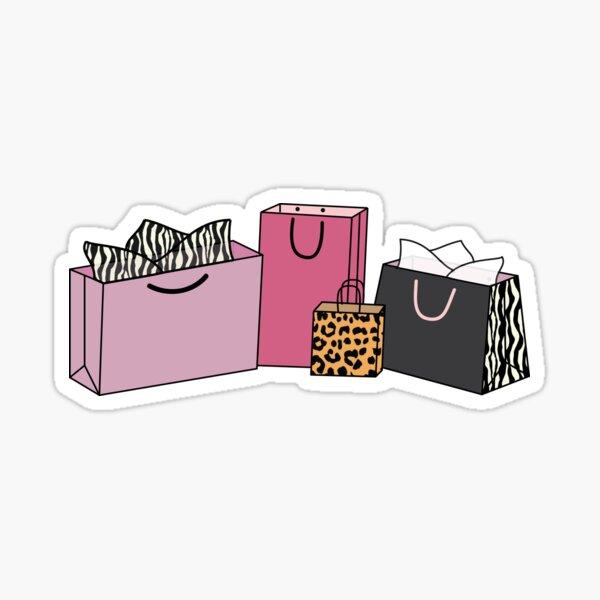 Animal Print Shopping Bags Sticker