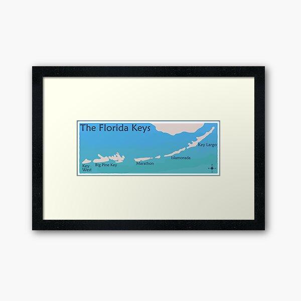 The Florida Keys. Framed Art Print