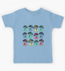 Cute Parachuting Baby Elephants Kids Tee