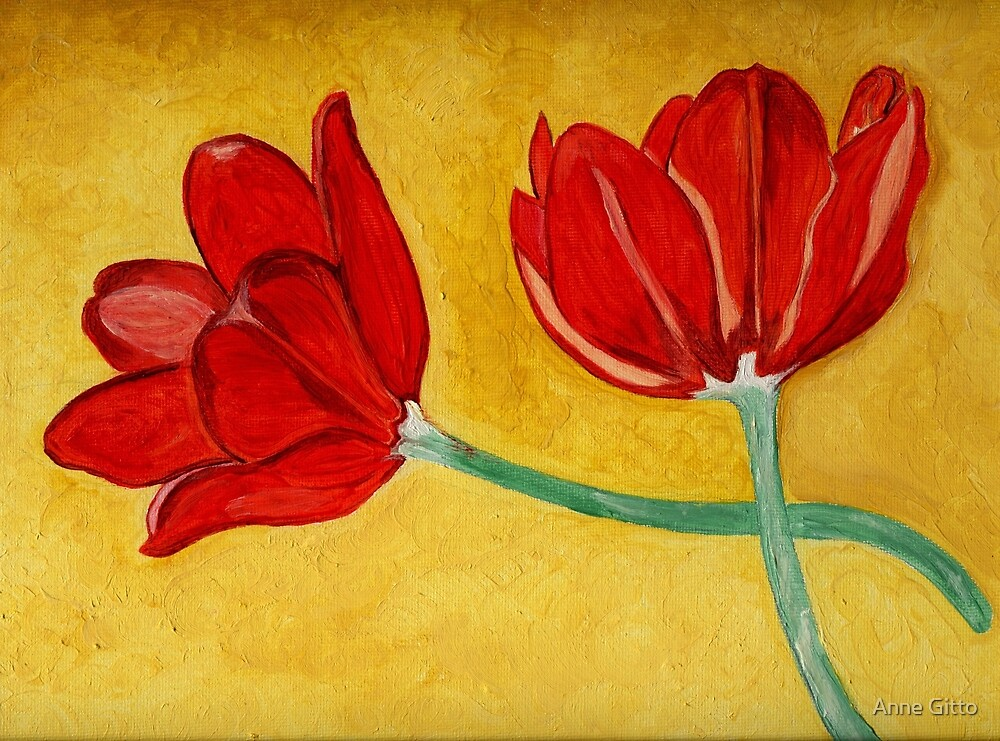 Tulips with Love, Happy Together  by Anne Gitto