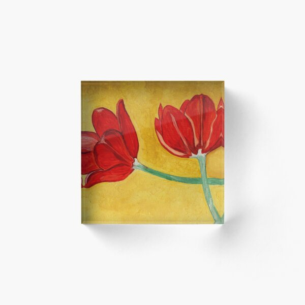 Tulips with Love, Happy Together  Acrylic Block