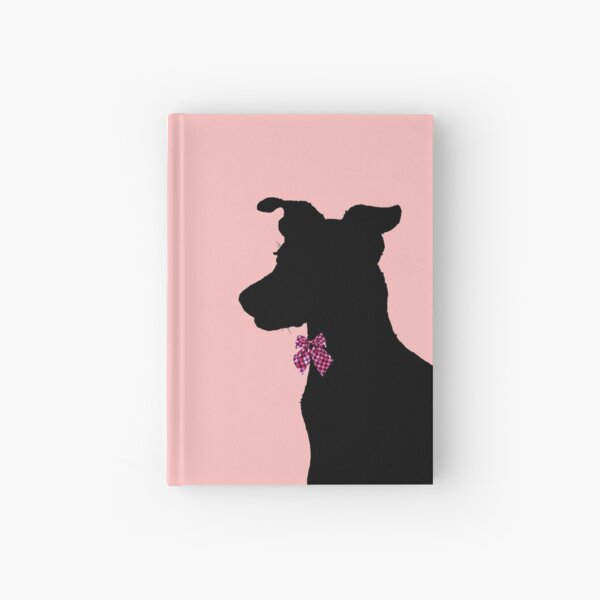 Fox Terrier with Bow Tie Hardcover Journal