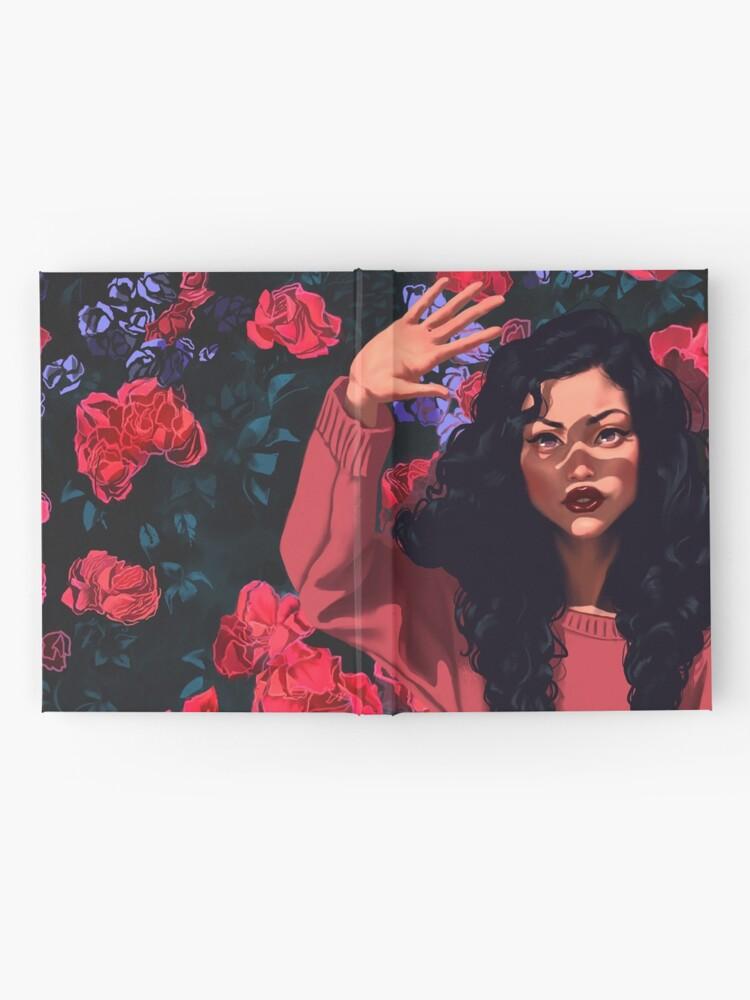 Alternative Ansicht von Red Flowers Girl Notizbuch