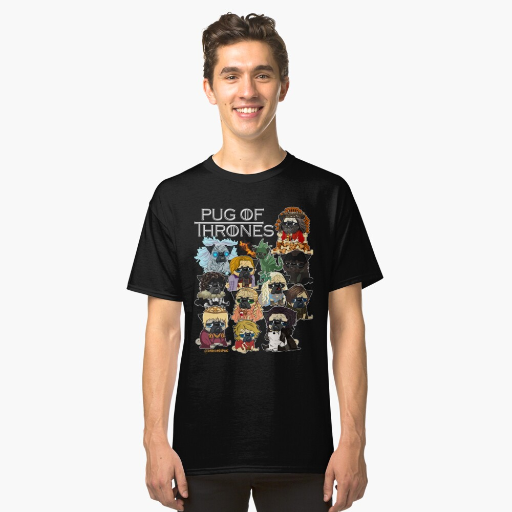 Pug of Thrones Classic T-Shirt Front