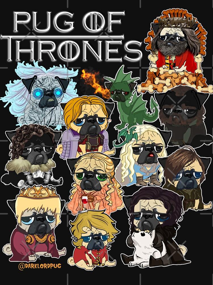 Pug of Thrones by darklordpug