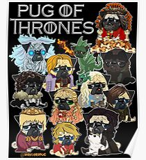 Póster Pug of Thrones