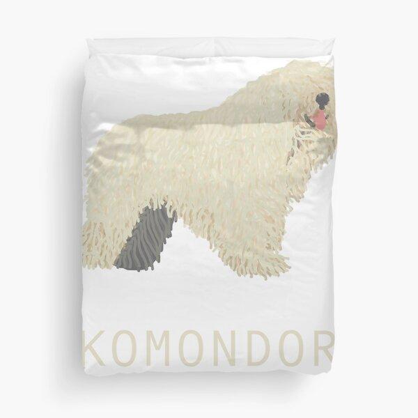 Komondor Dog - Spaghetti Creature Duvet Cover