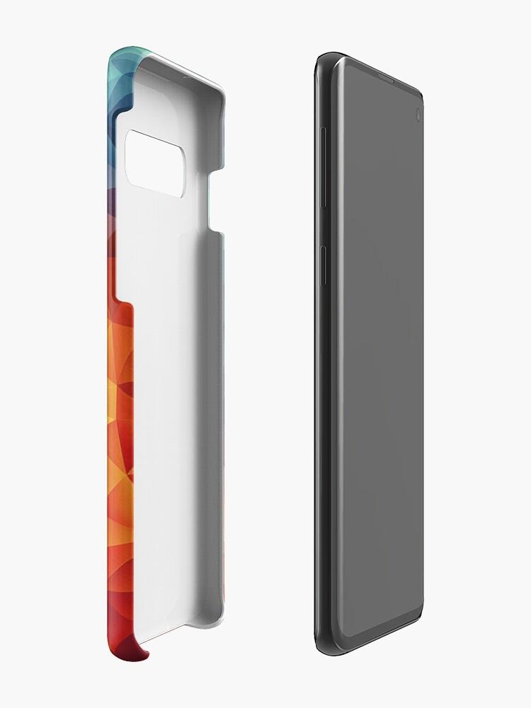 Alternative Ansicht von Abstract Multi Color Cubizm Painting Hüllen & Klebefolien für Samsung Galaxy