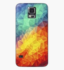 Abstract Multi Color Cubizm Painting Hülle & Klebefolie für Samsung Galaxy