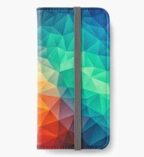 Abstract Multi Color Cubizm Painting iPhone Flip-Case/Hülle/Klebefolie