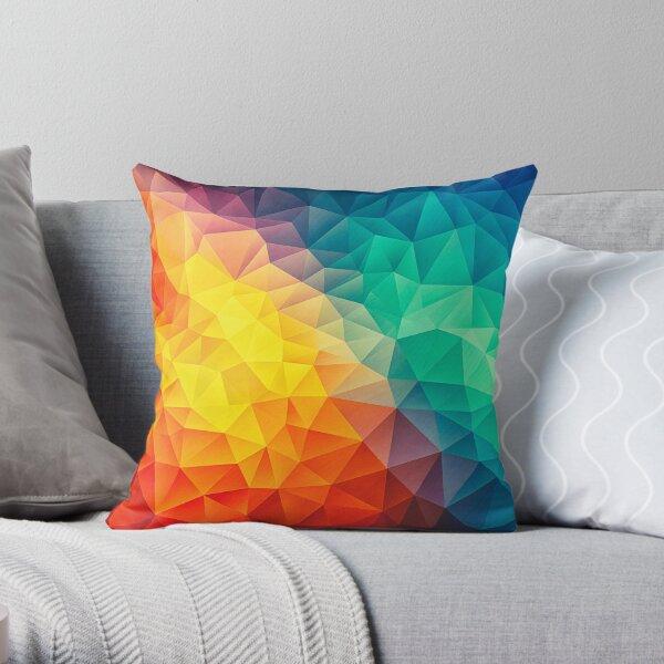 Abstract Multi Color Cubizm Painting Dekokissen