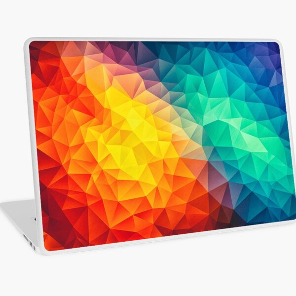 Abstract Multi Color Cubizm Painting Laptop Skin