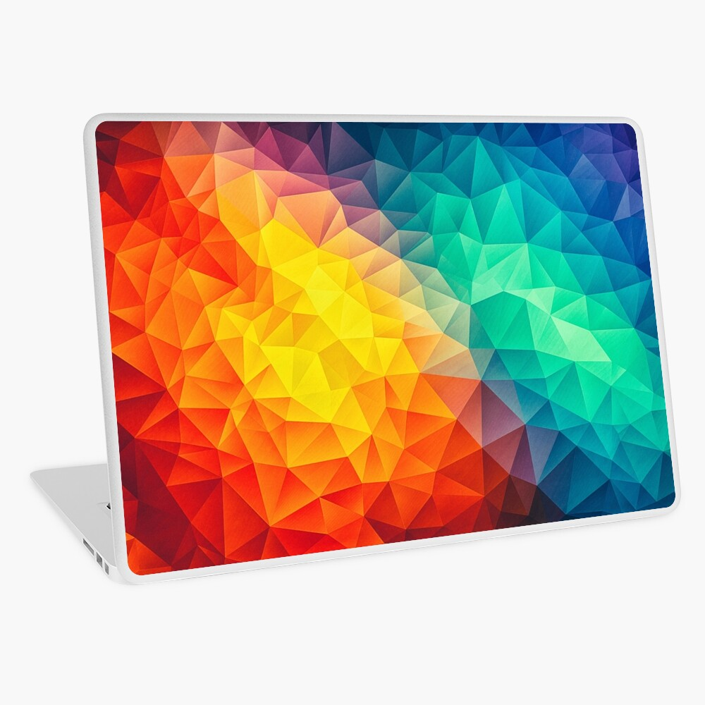 Abstract Multi Color Cubizm Painting Laptop Folie