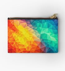 Abstract Multi Color Cubizm Painting Studio Pouch