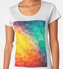 Abstract Multi Color Cubizm Painting Women's Premium T-Shirt