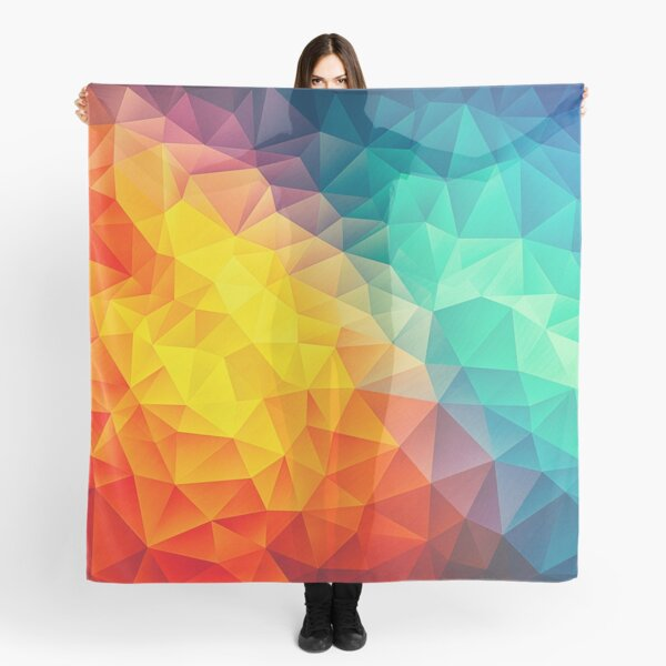 Abstract Multi Color Cubizm Painting Scarf