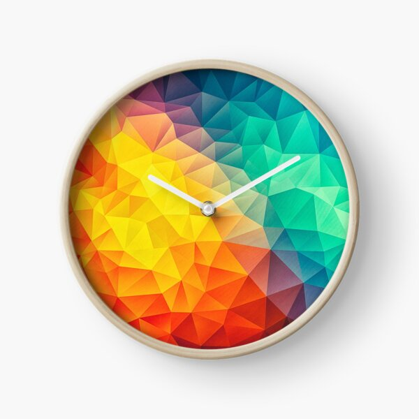 Abstract Multi Color Cubizm Painting Uhr