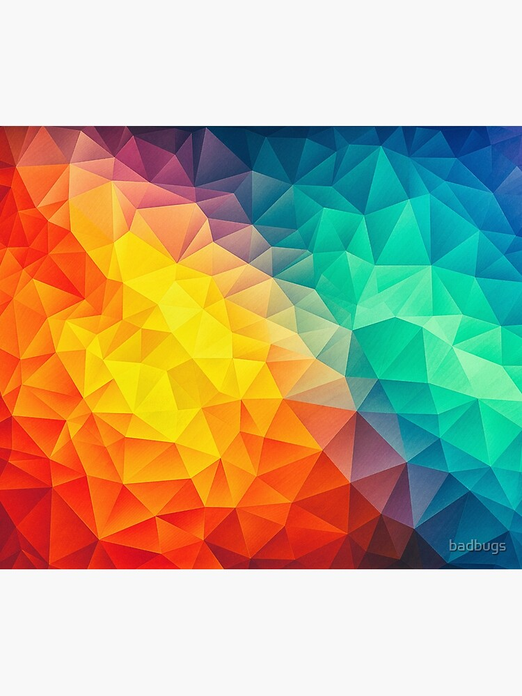 Abstract Multi Color Cubizm Painting by badbugs