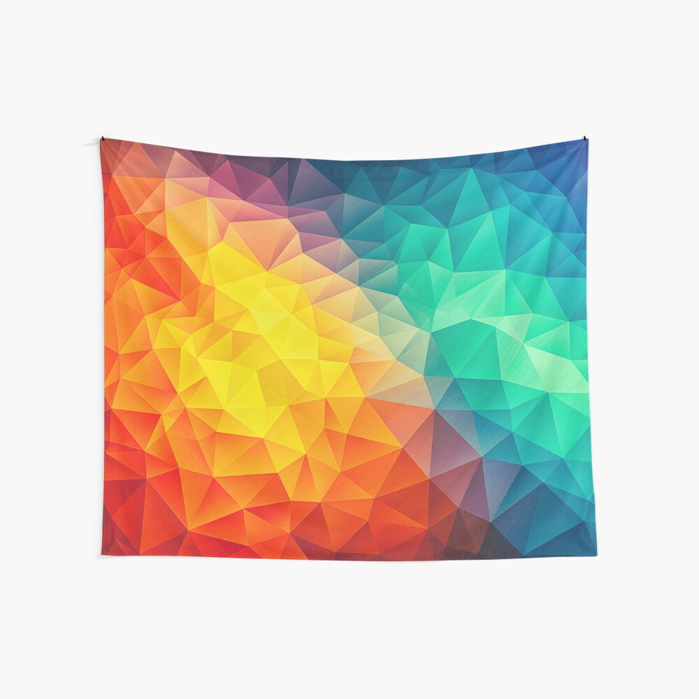 Abstract Multi Color Cubizm Painting Wandbehang