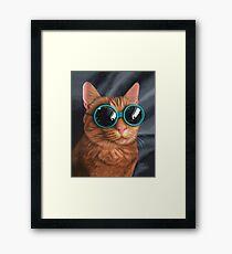 Cat Goggles Framed Print