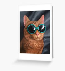 Cat Goggles Greeting Card