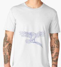 Raven Carrying Quill Drawing Men's Premium T-Shirt