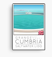 Lido Poster Grange over Sands Canvas Print