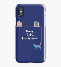 Books. Cats. Life is Good. iPhone Case/Skin
