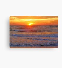 Sizzle – Sunset On The Gulf of Mexico Canvas Print