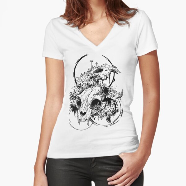 Cycles - INK Fitted V-Neck T-Shirt