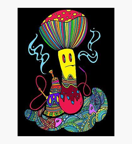 Hooka & Mushroom Photographic Print